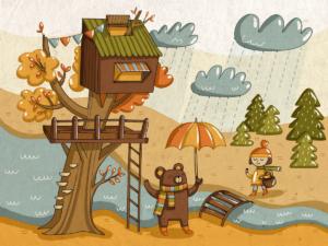 Дождь не помеха: 6 веселых игр для детей осенью